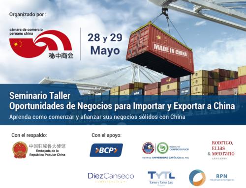 TALLER OPORTUNIDADES DE NEGOCIOS PARA IMPORTAR Y EXPORTAR A CHINA