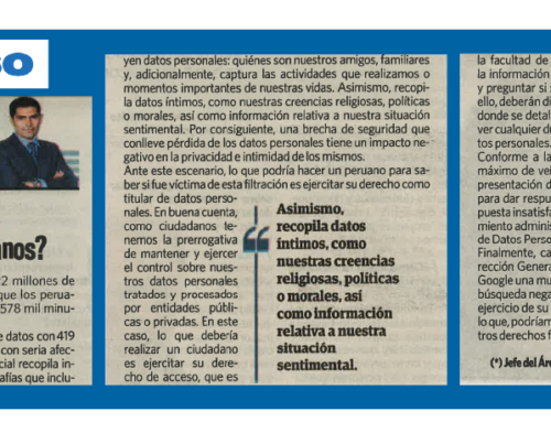 Filtración de datos: ¿Qué podemos hacer los peruanos?