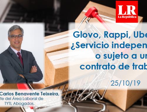 Glovo, Rappi, Uber Eats: ¿Servicio independiente o sujeto a un contrato de trabajo?