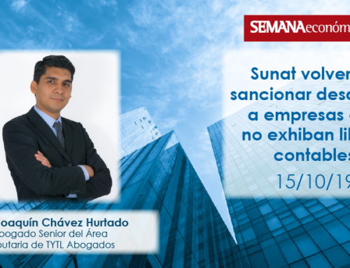 Sunat volverá a sancionar desde hoy a empresas que no exhiban libros contables