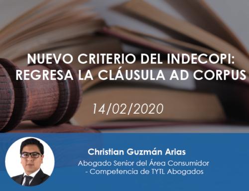 Nuevo criterio del Indecopi: regresa la cláusula ad corpus
